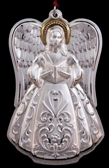 Towle - 'Xmas Ornament' - Angel-2001-Gold Accent1st issue