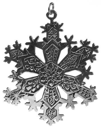 Metroplitan Museum of Arts - 'Xmas Ornament' - Snowflake- 1971 #1
