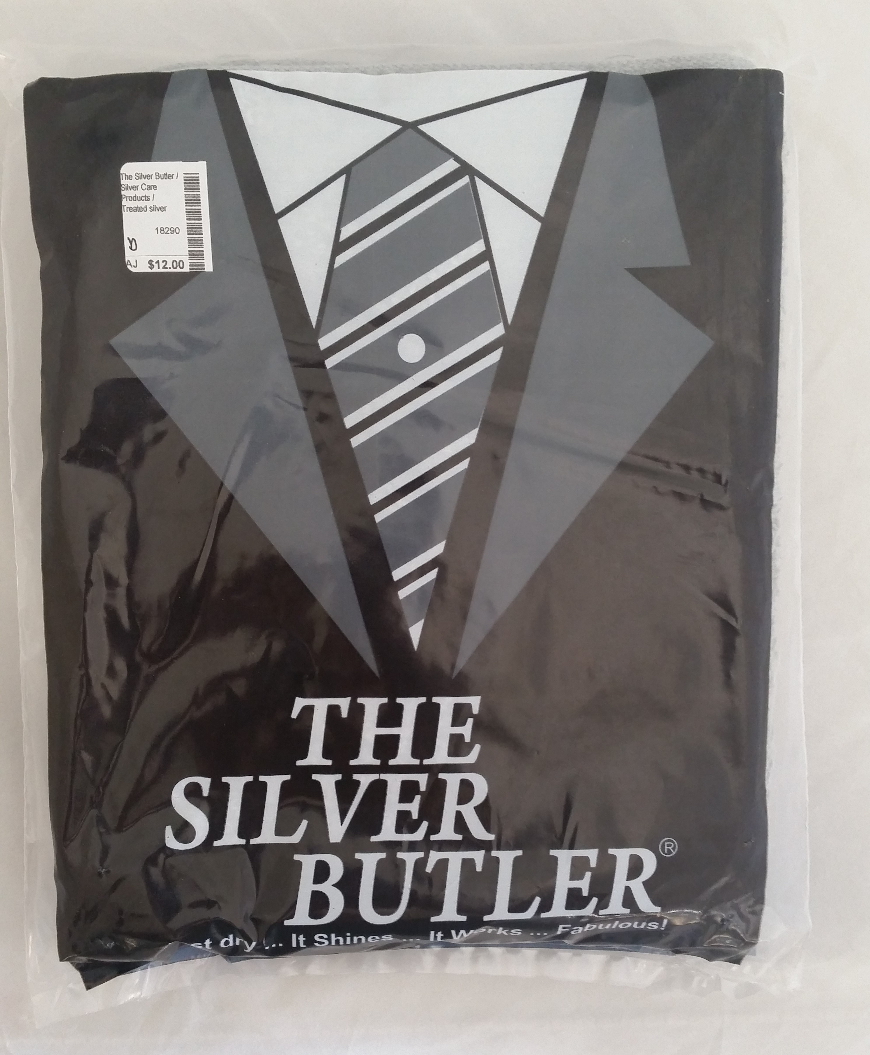 The Silver Butler - 'Silver Care Products' - Treated silver drying towel
