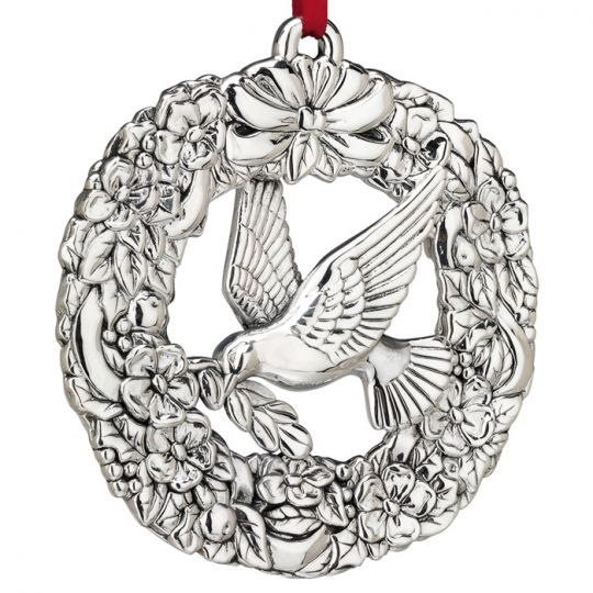 Reed & Barton - 'Xmas Ornament' - Wmsburg Dove & Wreath 2010#4