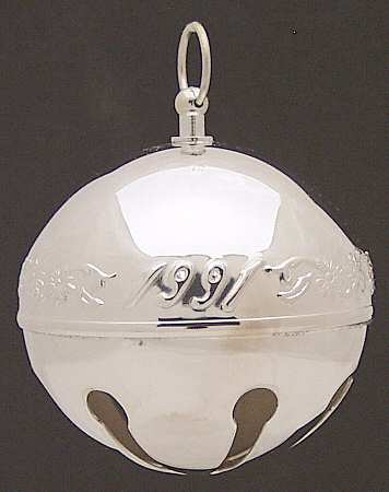 Wallace Silver Plated - 'Xmas Ornament' - Annual Bell- 1991