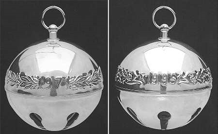 Wallace Silver Plated - 'Xmas Ornament' - Annual Bell- 1995