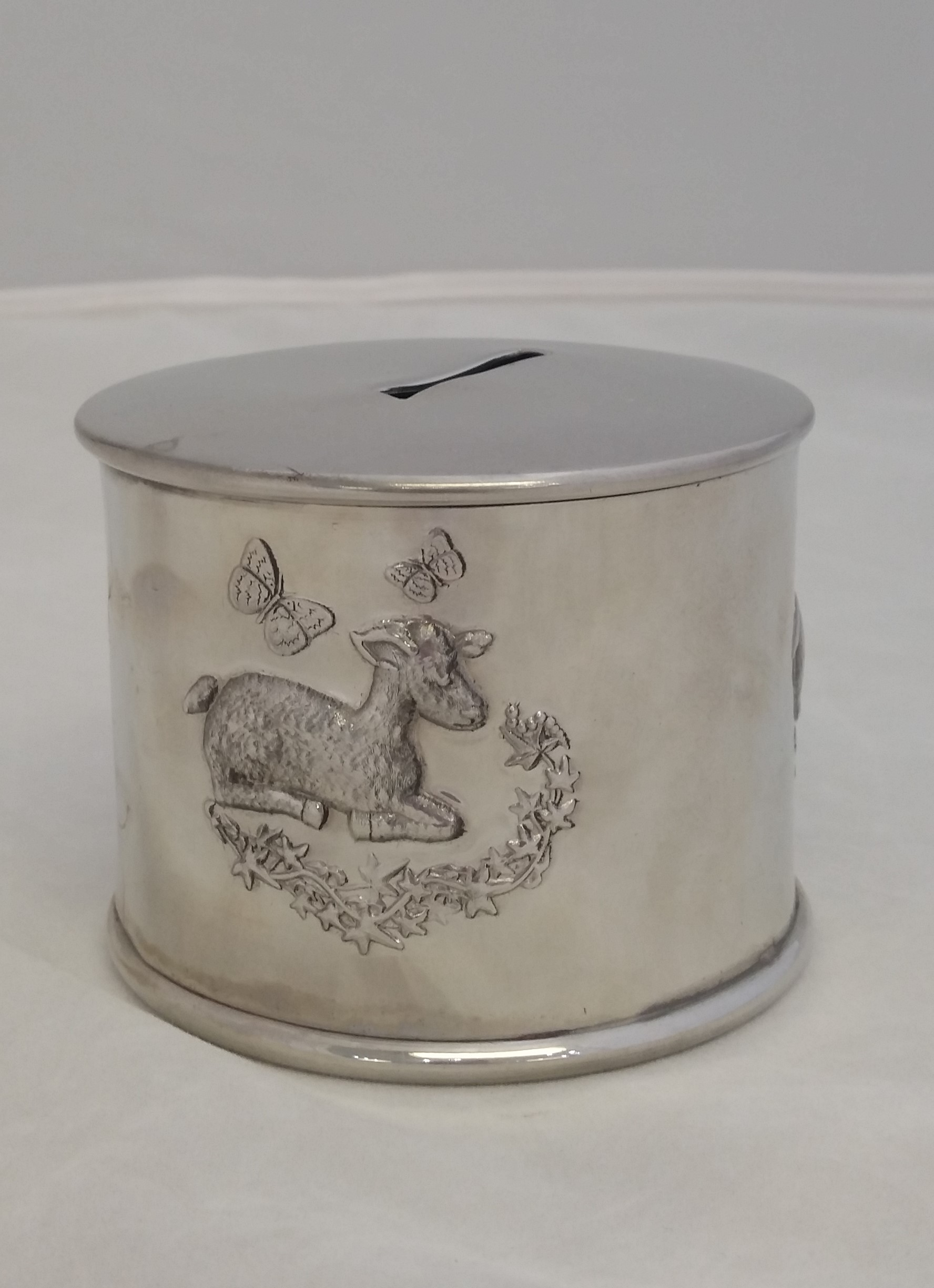English Pewter - 'Pewter' - Coin Bank- Little Lamb#YB1004
