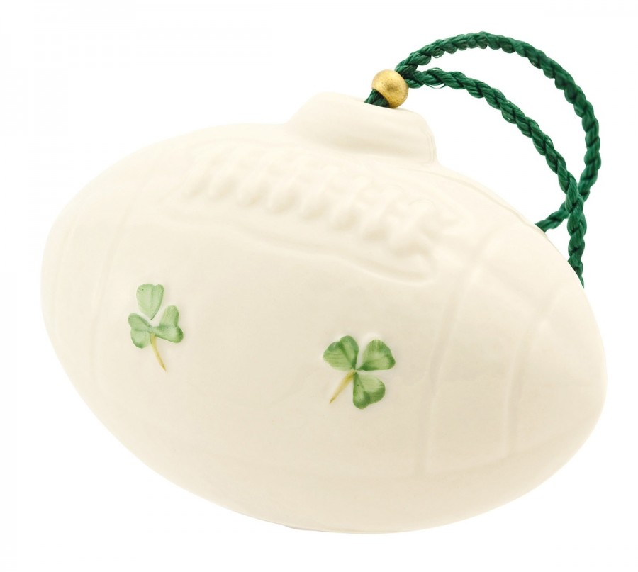 Irish Belleek - 'American Football Ornament' - #4235