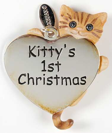 Gorham Silver Plate - 'Xmas Ornament' - Kitty's 1st. Xmas