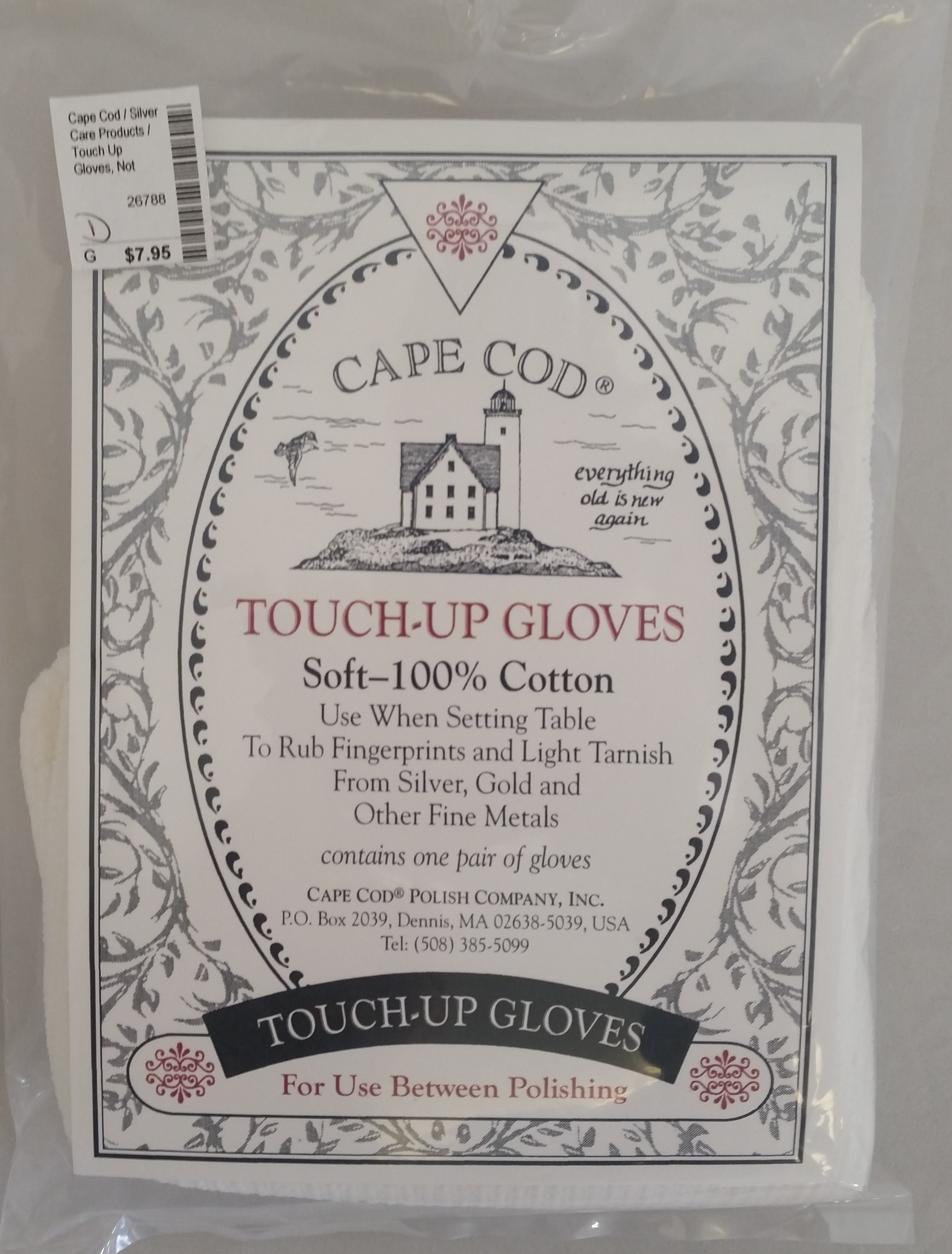 Cape Cod - 'Silver Care Products' - Touch Up Gloves- Not Treated