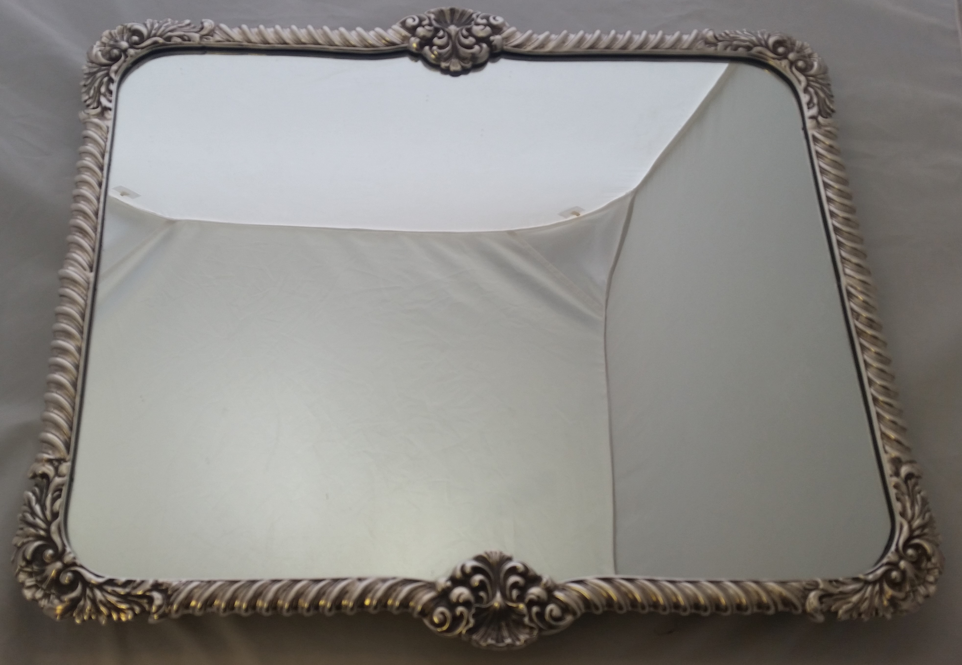 English Silver Plated - Plateau Mirror- Circa 1911