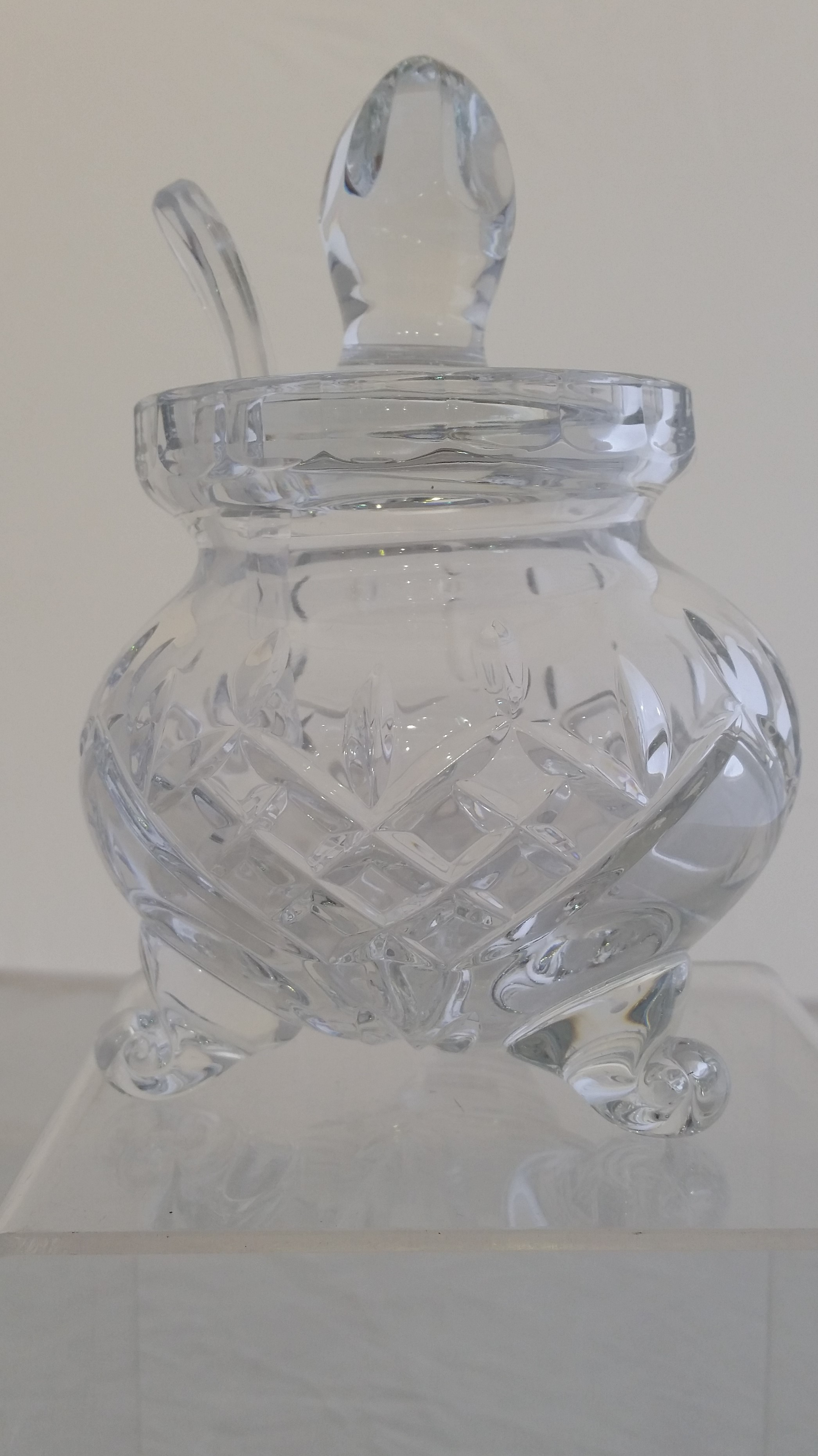 Majestic Gifts - '24% Lead Crystal' - Honey Jar-#PL134