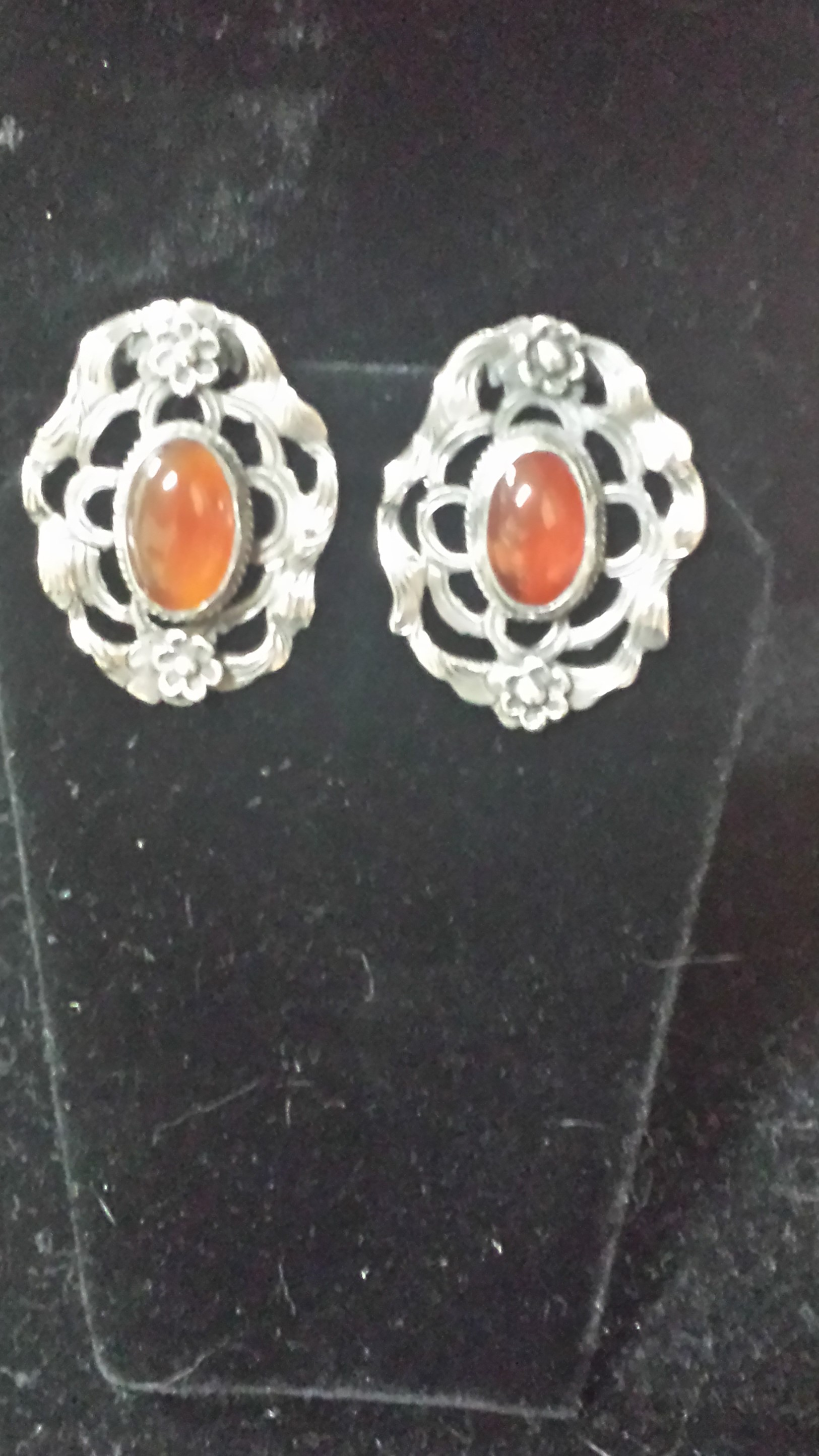 Alice Caviness - 'Sterling  Jewelry Estate' - Earrings- clip back