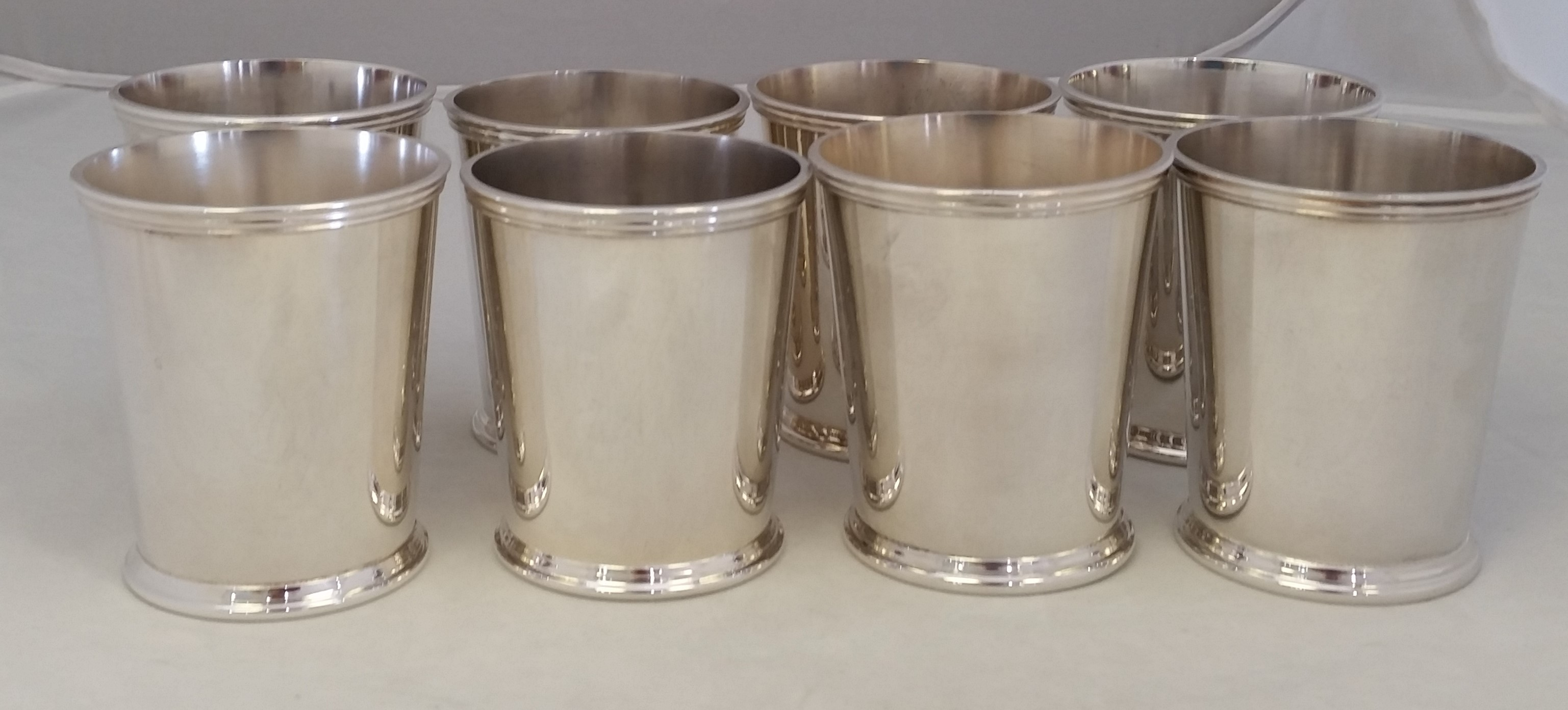 Crescent Silverware Mfg. Co - 'Silver Plated' - Mint Julep Cups set of 8 Estate