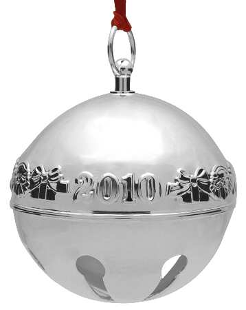 Wallace Silver Plated - 'Xmas Ornament' - Annual Bell- 2010- 40th- no box