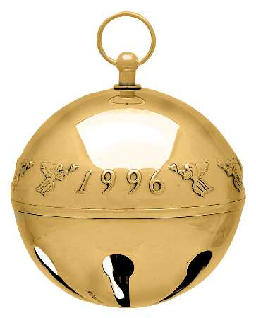 Wallace - 'Xmas Ornament' - Annual Bell Gold Plated 1996