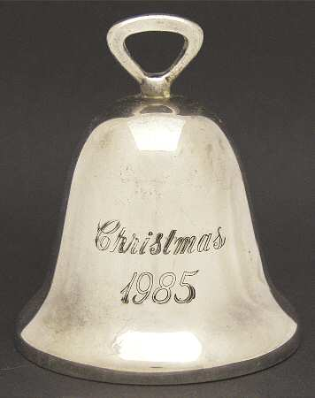 Reed & Barton Silver Plate - 'Xmas Ornament' - Bell- 1985- no box