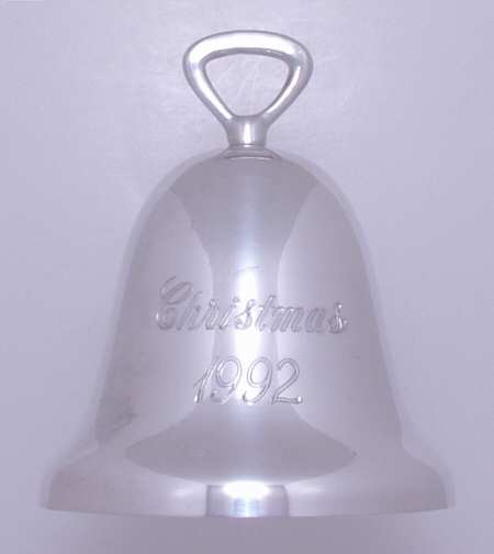 Reed & Barton - 'Xmas Ornament' - Bell- 1992