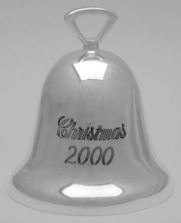 Reed & Barton Silver Plate - 'Xmas Ornament' - Bell- 2000- no box