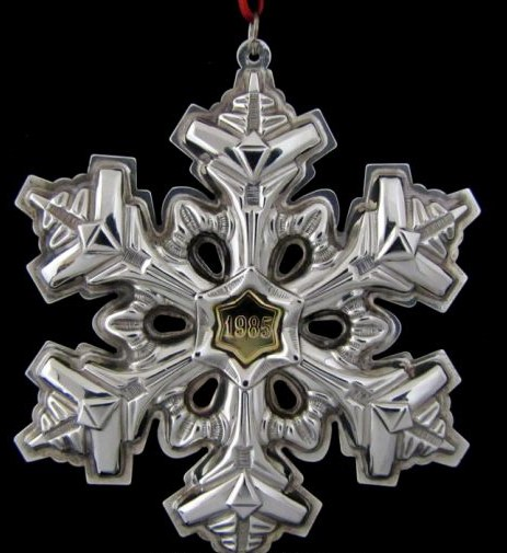 Gorham - 'Xmas Ornament' - Snowflake- 1985- no box