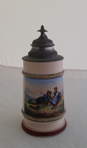 - 'Beer Stein' - LITHOPHANE Hand Painted