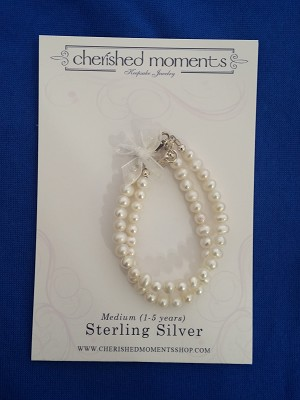 Cherished Moments - 'Baby Jewelry' - Bracelet-Elizabeh-double strand