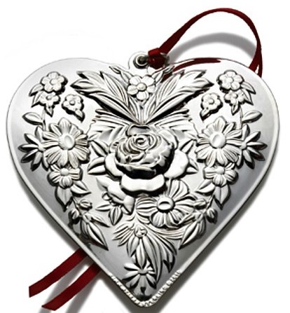 Kirk-Stieff - 'Xmas Ornament' - Repousse Heart- 2010-2nd Edition