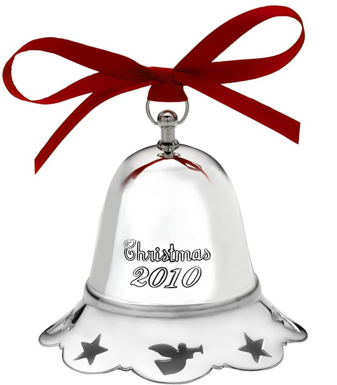 Towle Silver Plated - 'Xmas Ornament' - Musical Silver Plated Bell-2010