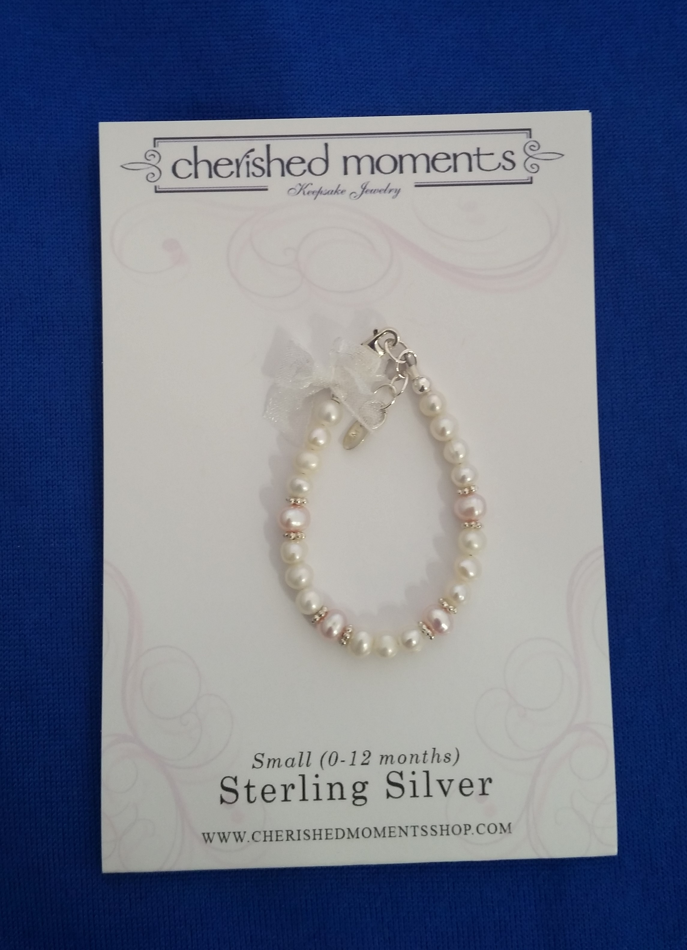 Cherished Moments - 'Baby Jewelry' - Bracelet-Addie-pink pearl