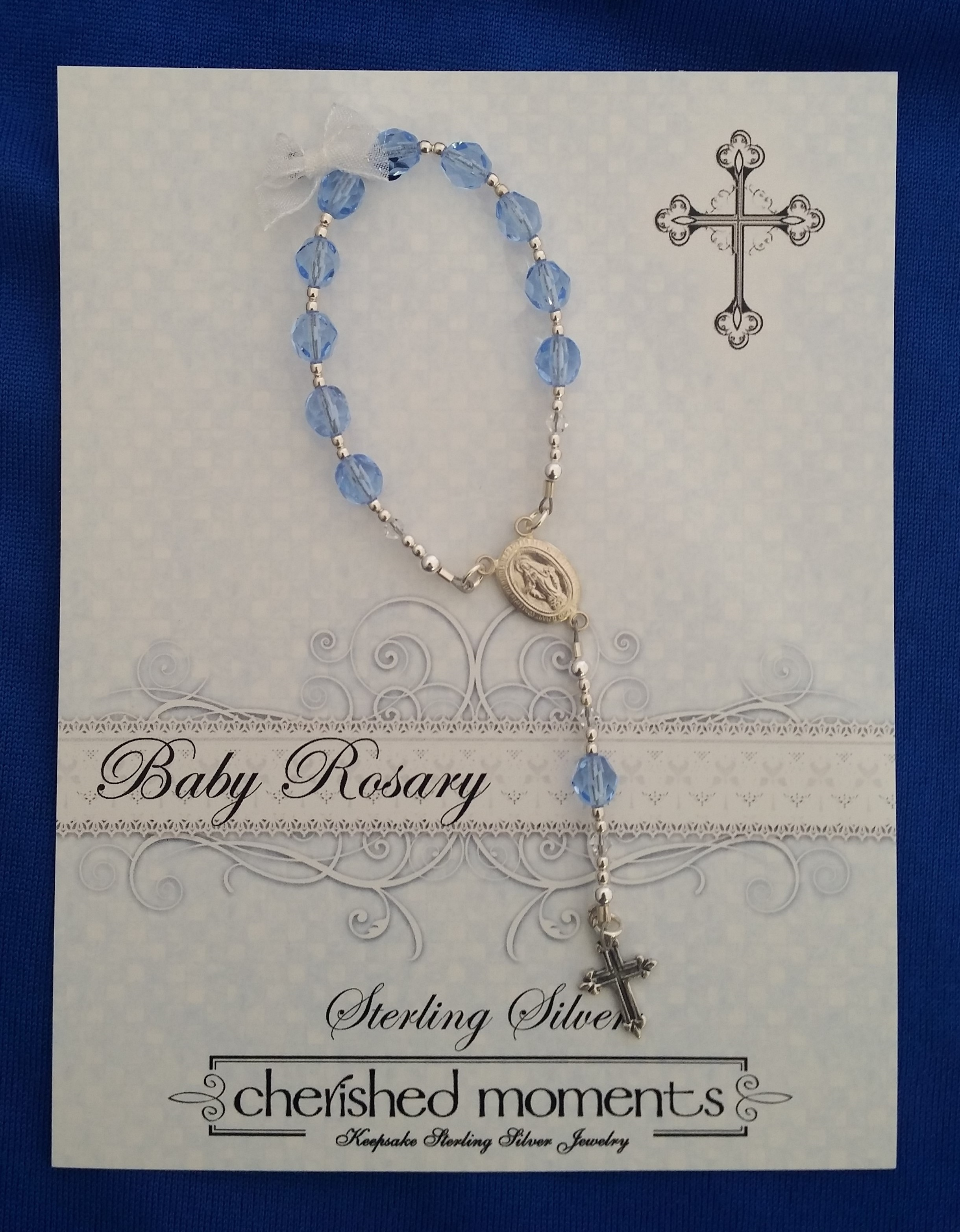 Cherished Moments - 'Baby Jewelry' - Rosary- baby-#BR-Blue