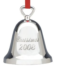 Reed & Barton Silver Plate - 'Xmas Ornament' - Bell- 2008