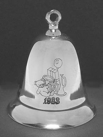 Kirk-Stieff - 'Xmas Ornament' - Silver plated musical bell 1983