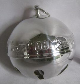 Wallace Silver Plated - 'Xmas Ornament' - Annual Bell- 1981