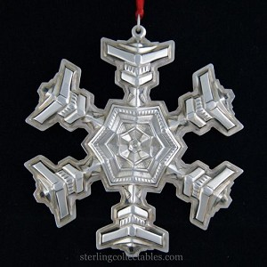 Gorham - 'Xmas Ornament' - Snowflake- 1977- no box