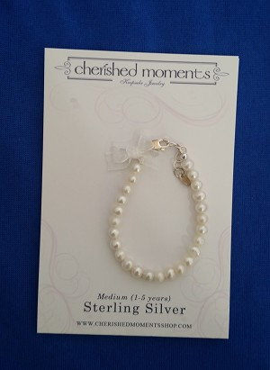 Cherished Moments - 'Baby Jewelry' - Bracelet-Zoe-pearl-
